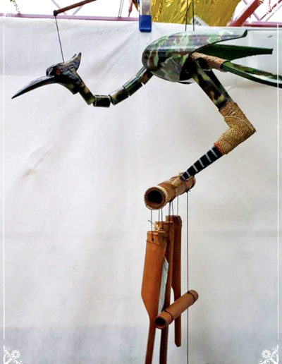 Camo Bird Wooden Chimes