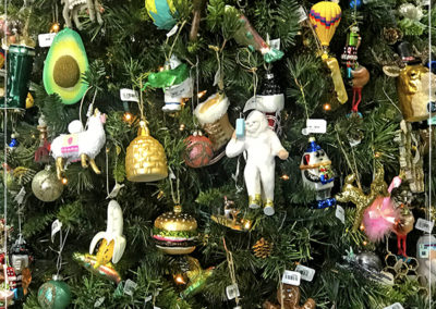 Crazy Frazee Christmas Tree - ornaments starting at just $5.99
