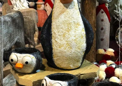 Quirky and cute, these penguins look great all winter
