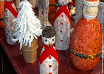 Mango Wood Snowman and other decor
