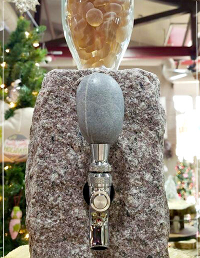 Cobbled Granite Beverage Dispenser