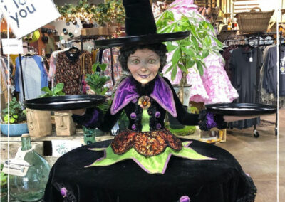 Halloween Witch Tablecloth and Cupcake Holder