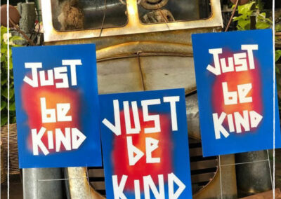 Just Be Kind signs